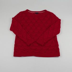 Tommy Hilfiger Red Cable Knit Sweater